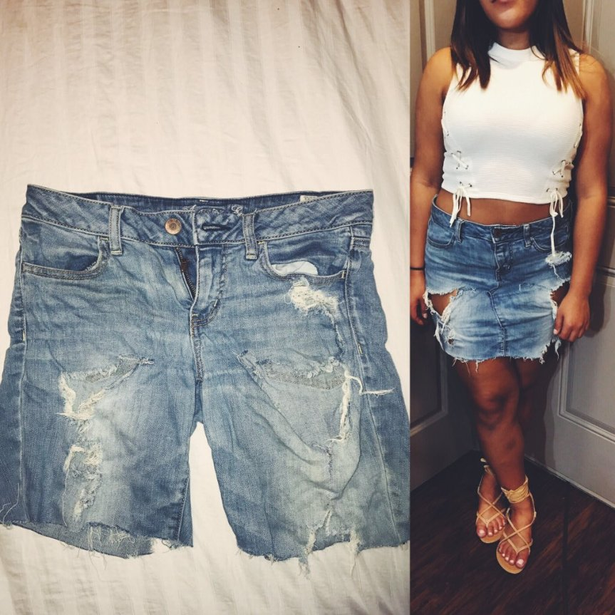 How to Turn Your Old Jeans into a Denim Skirt